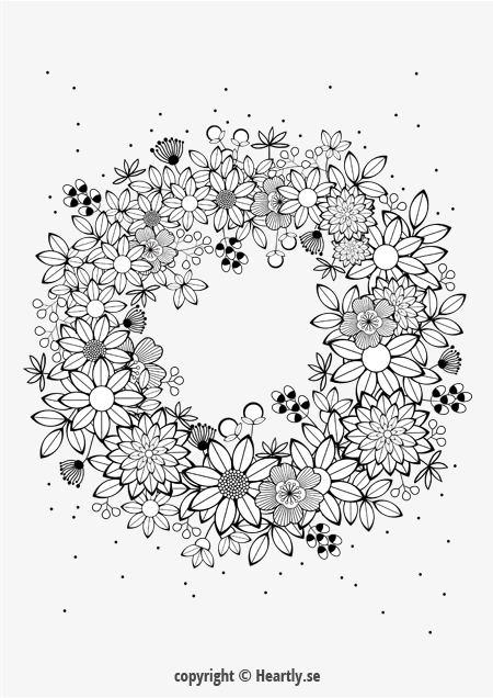 rose garland coloring pages - photo#31
